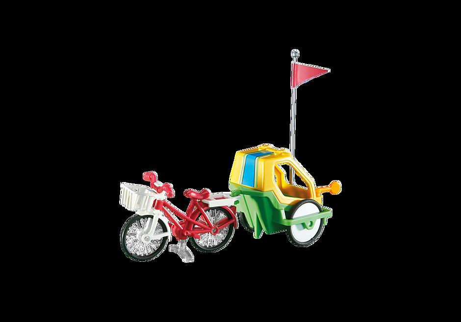 6388 Fahrrad mit Kinderanhänger detail image 1
