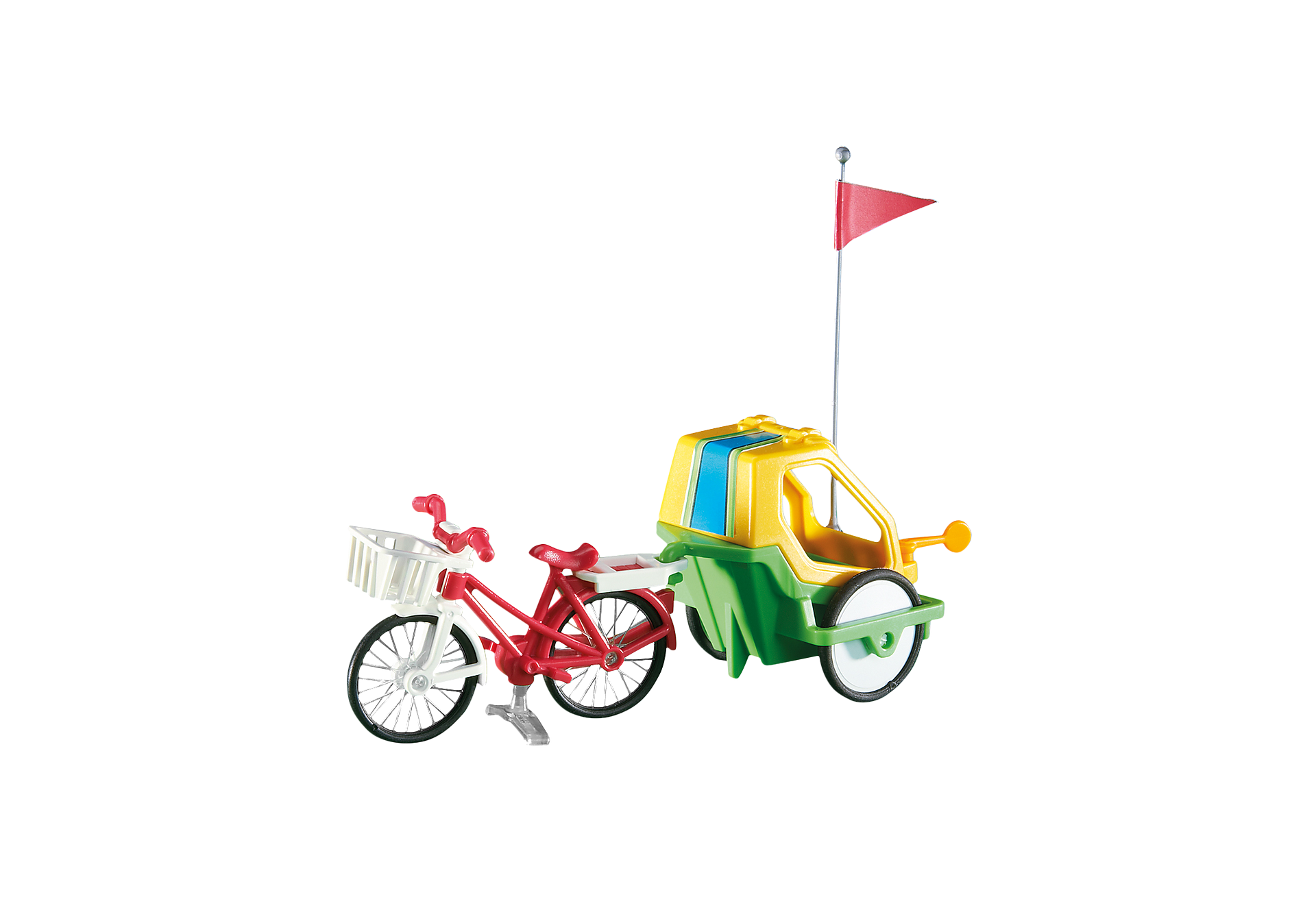 6388 Fahrrad mit Kinderanhänger zoom image1
