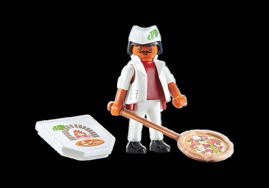 6392 Pizzaiolo avec pizza  detail image 1
