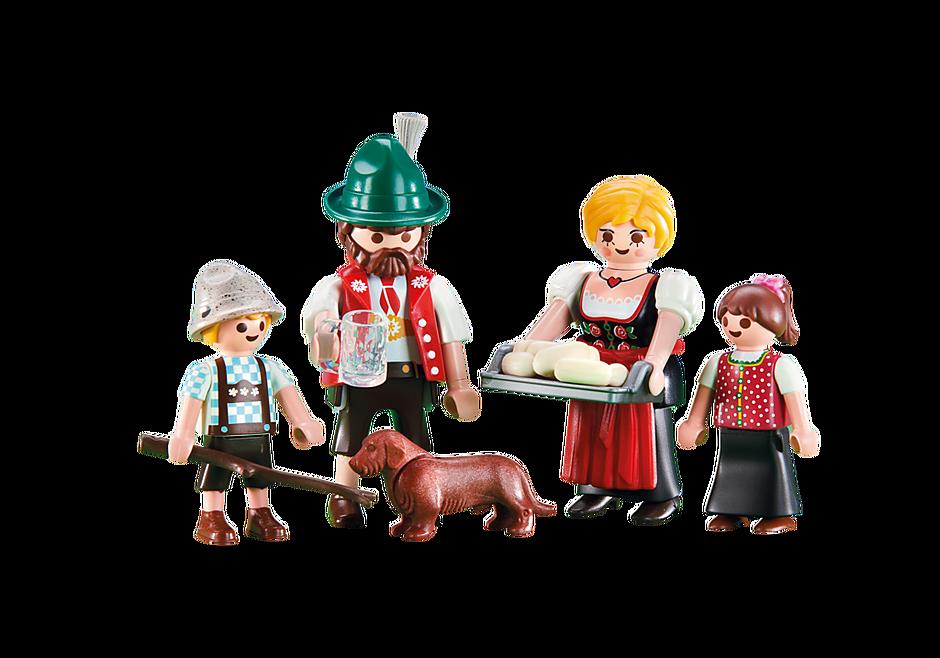 6395 Famille avec tenues traditionnelles bavaroises detail image 1