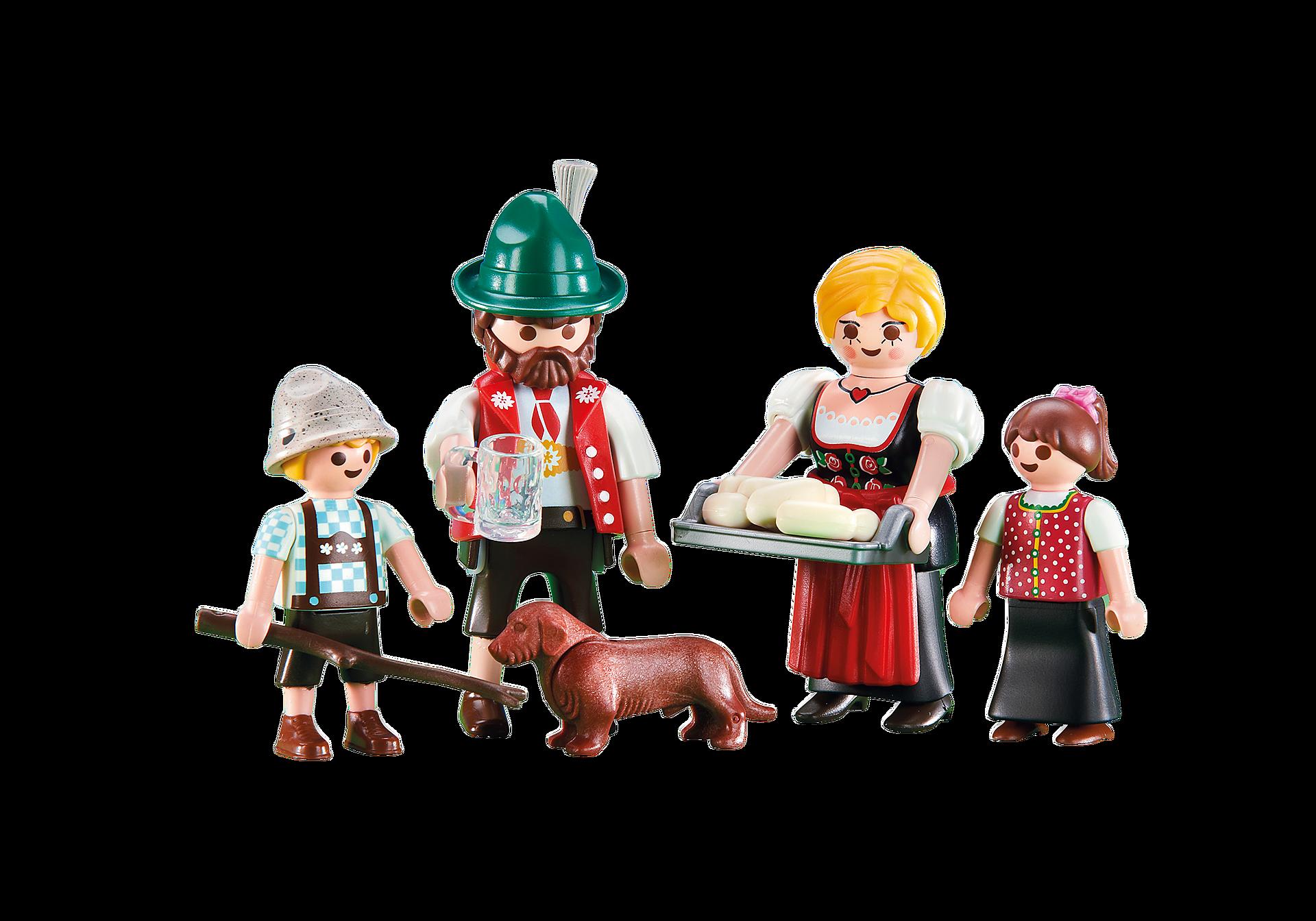 6395 Famille avec tenues traditionnelles bavaroises zoom image1