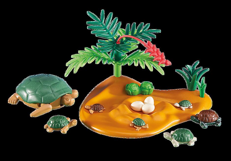 6420 Żółw z małymi żółwiami detail image 1