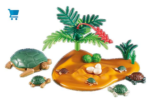 6420_product_detail/Żółw z małymi żółwiami
