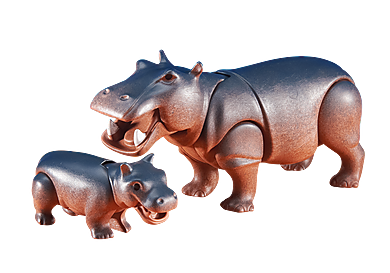 6421_product_detail/Hippo with Calf