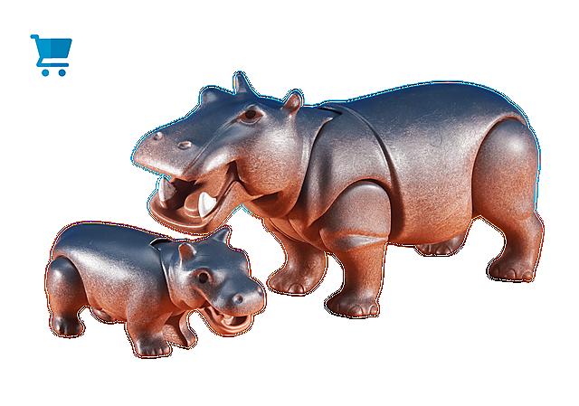 6421_product_detail/Hippopotame et son petit