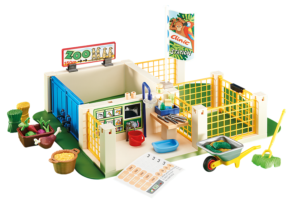 http://media.playmobil.com/i/playmobil/6425_product_detail/Centro de Cuidados para Animales del Zoo