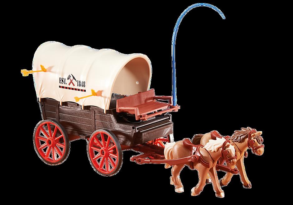 6426 Charrette avec deux chevaux detail image 1