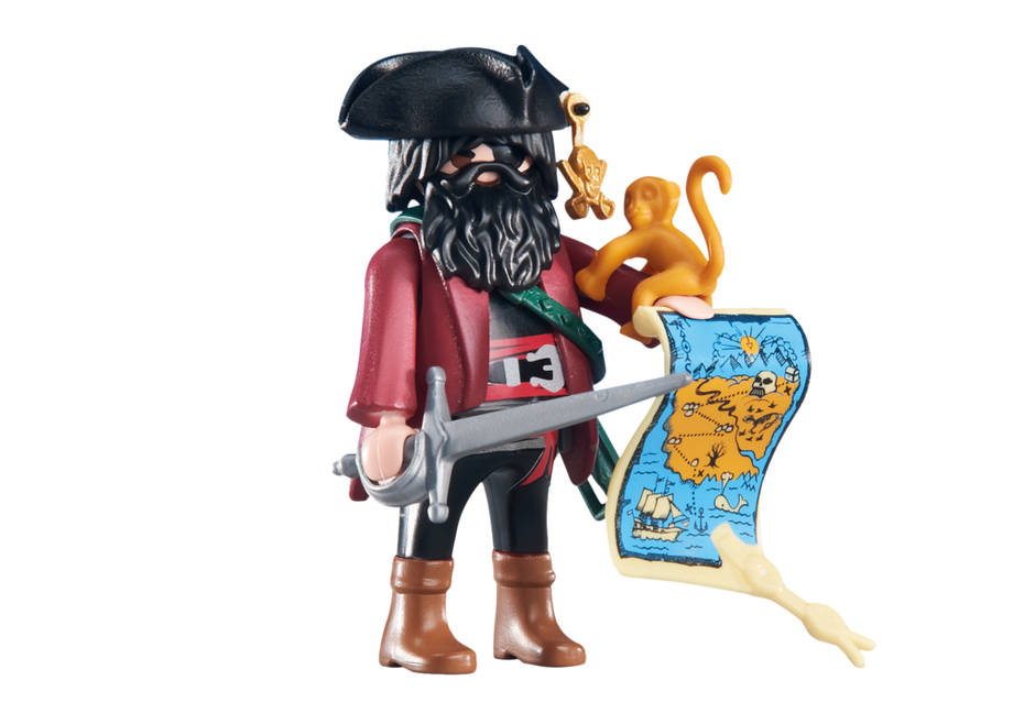 pirate captain with map  6433  playmobil® united kingdom