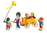 6439 Erzieherin mit Bollerwagen