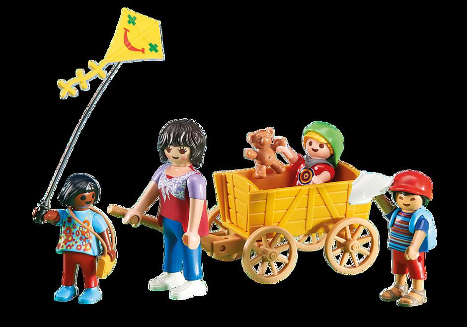 6439 Opiekunka z dziećmi i wózkiem detail image 1