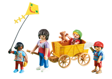 Playmobil Mother With Children And Wagon 6439