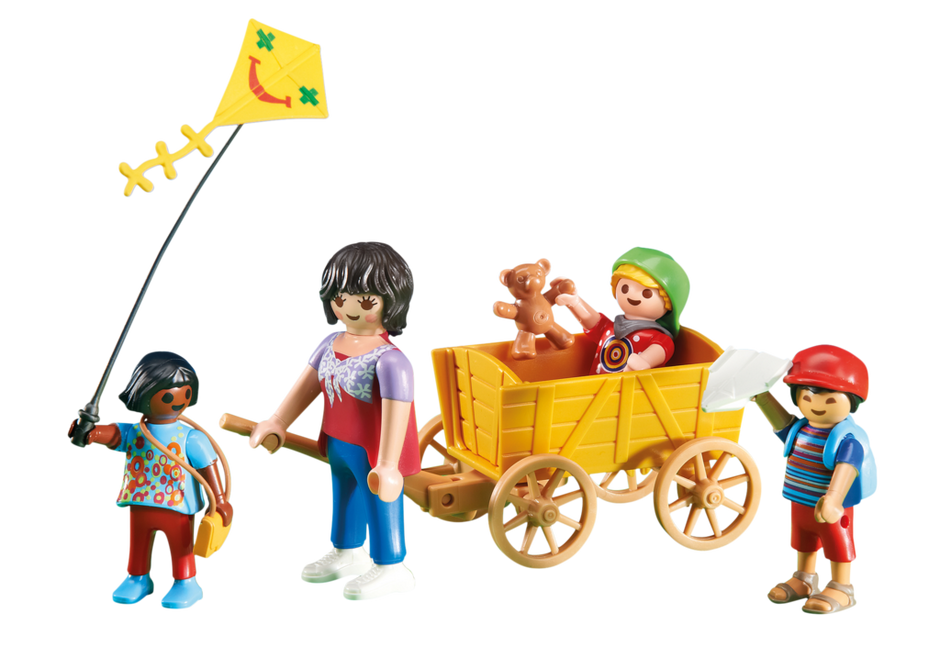 Mother with Children and Wagon