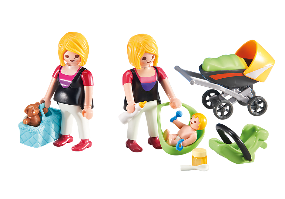 http://media.playmobil.com/i/playmobil/6447_product_detail/Μαμά με μωράκι και έγκυος γυναίκα
