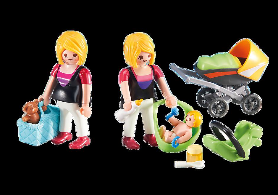 6447 En gravid og mor med baby detail image 1