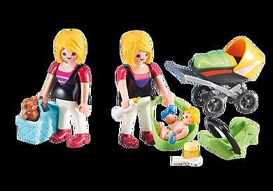 6447 Femme enceinte avec maman et bébé