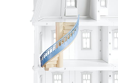 6455_product_detail/Romantisk dukkehus vindeltrappe