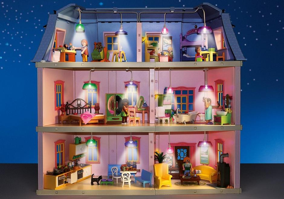 Light set for deluxe dollhouse 5303 6456 playmobil - Maison playmobil en bois ...