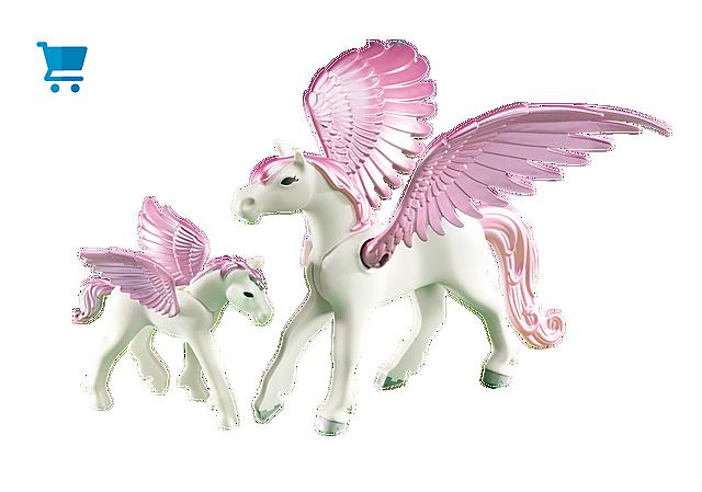 6461_product_detail/Cavallo alato con puledro