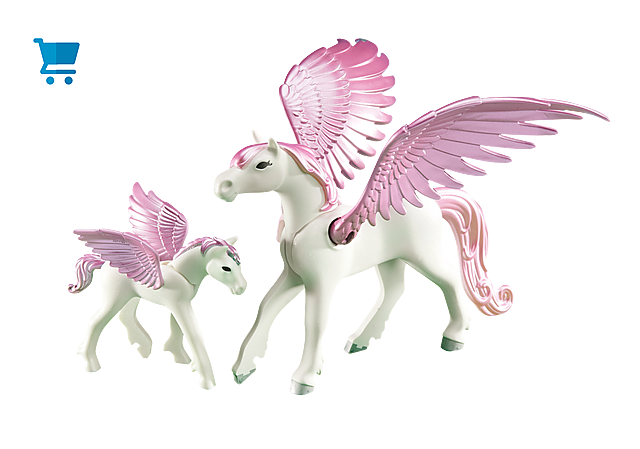 6461_product_detail/Pegasus with Foal