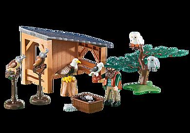 6471 Fauconnier avec abri et faucons