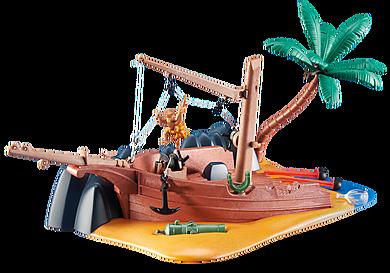 6481 Epave de bateau  avec canon