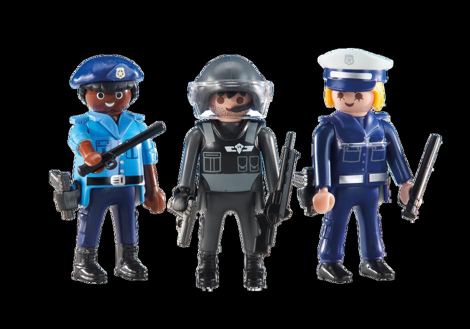 3 policiers - Policier Playmobil