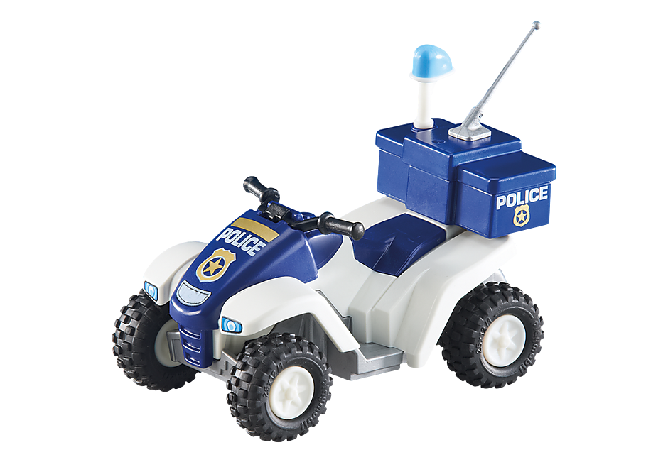 6504 Fyrhjuling och polis detail image 1