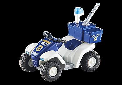 6504 Fyrhjuling och polis