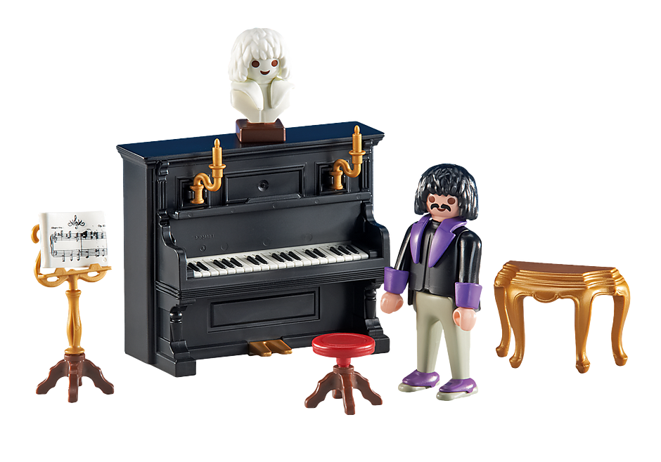 6527 Pianist mit Klavier detail image 1