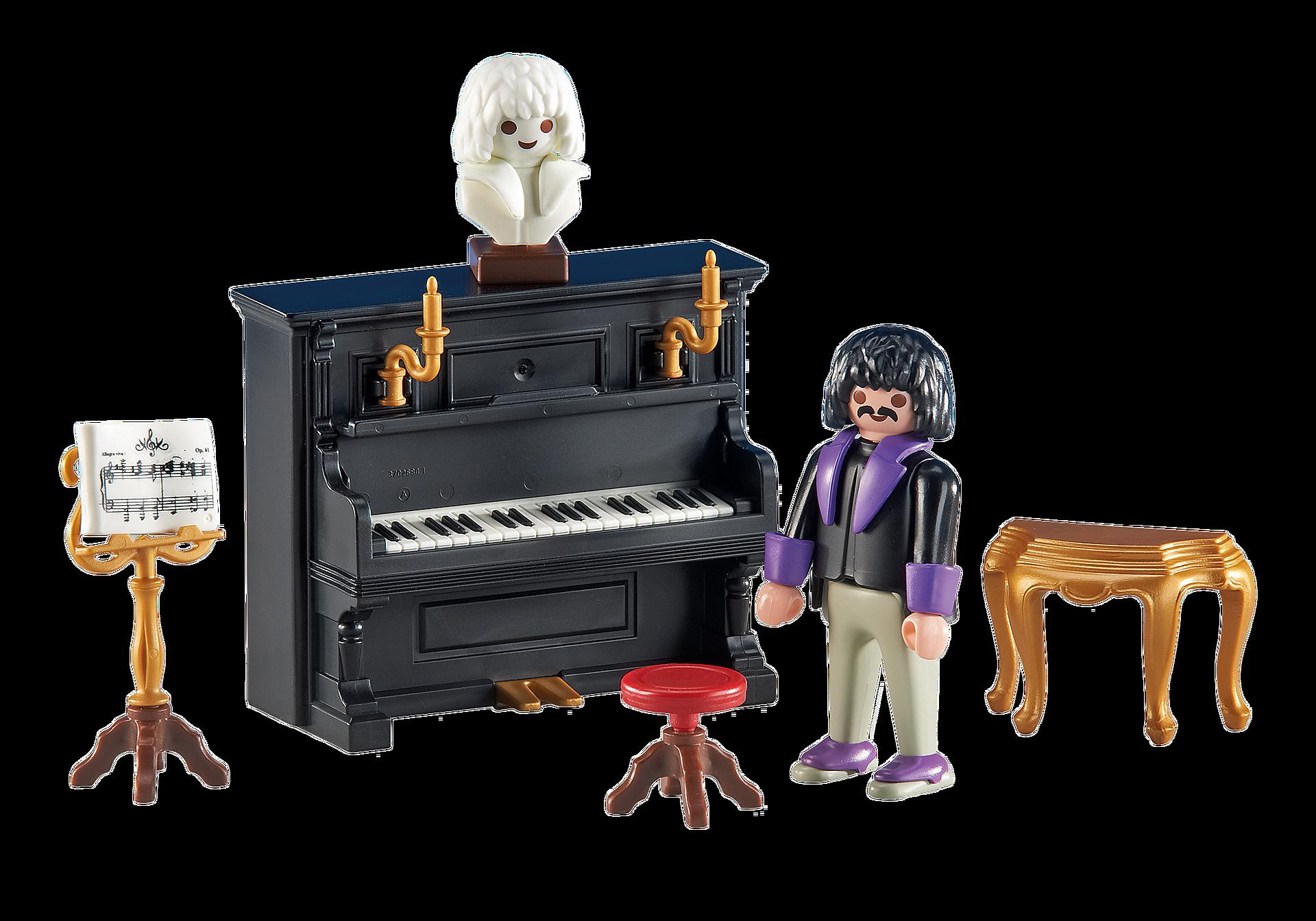 6527 Pianist mit Klavier zoom image1