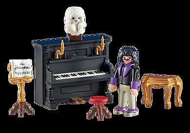 6527 Pianist mit Klavier