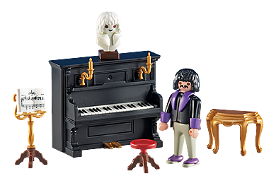 6527 Pianiste avec piano