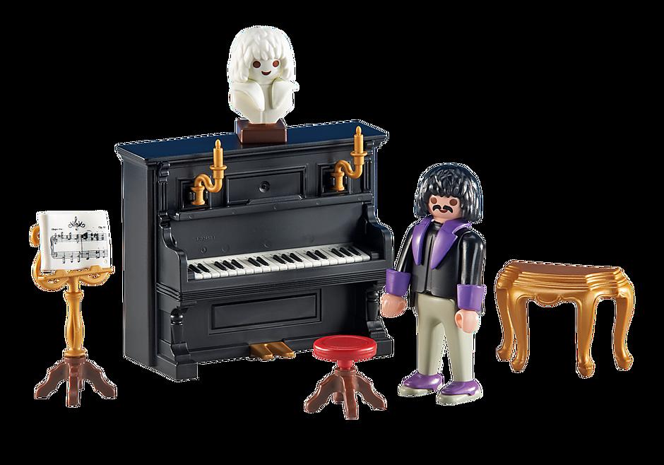6527 Pianiste avec piano detail image 1