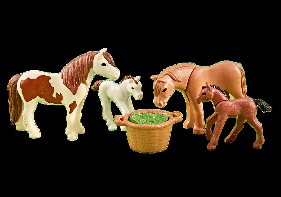 6534 Pony's met veulen detail image 1