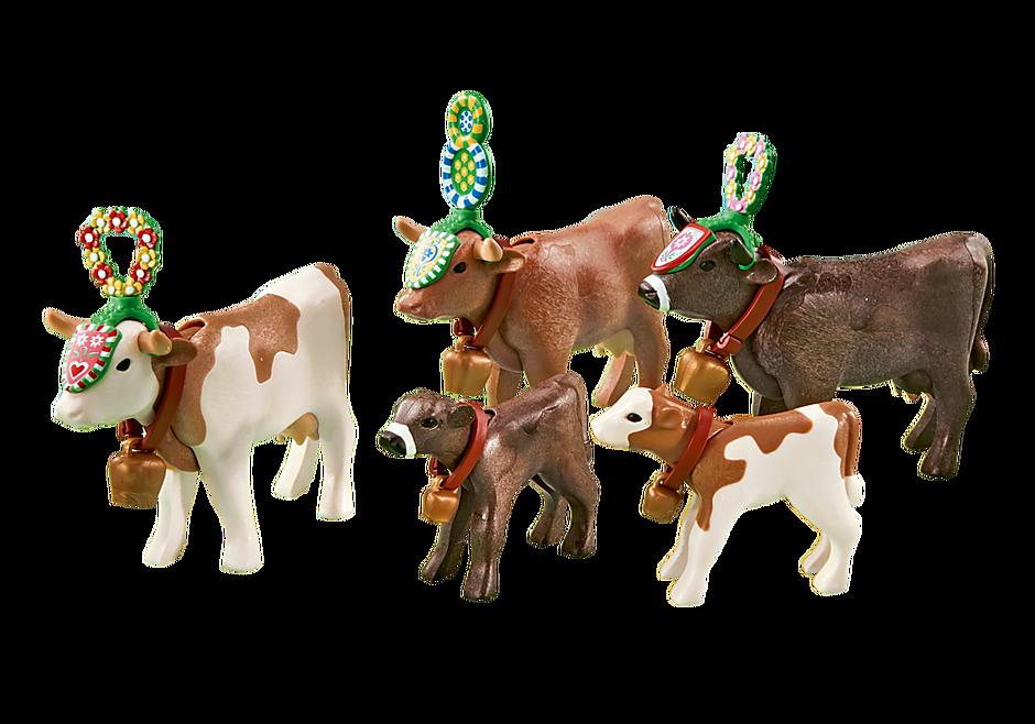 6535 Neddrivning af kvæg fra sæteren detail image 1