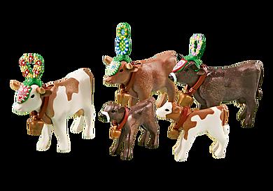 6535 Traditioneel versierde koeien