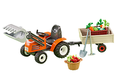6537 Compact Front Loader with Trailer