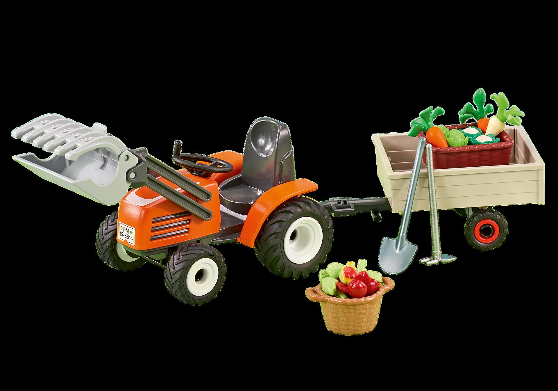 6537 Kleine tractor met aanhangwagen zoom image1