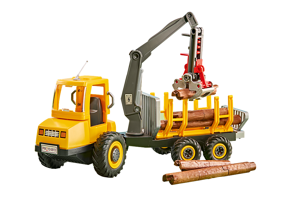 6538 Timber Truck with Crane detail image 1