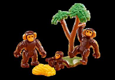 6542 Famille de chimpanzés