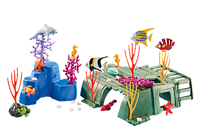 6545_product_detail/Coral Reef with Sea Creatures