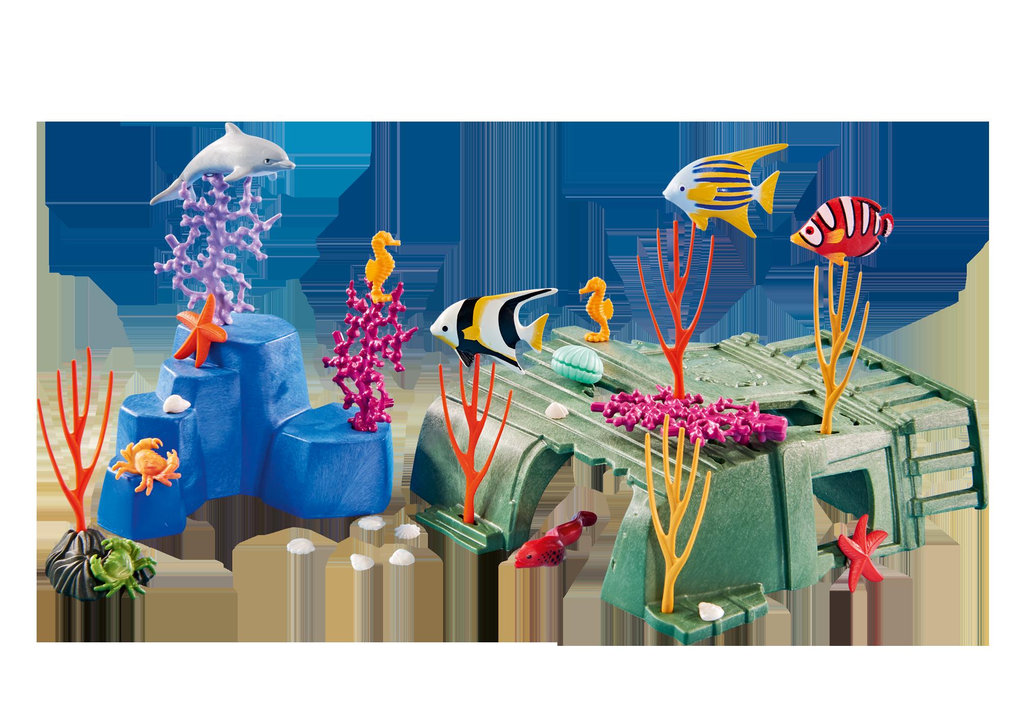 6545_product_detail/Korallenriff mit Meerestieren