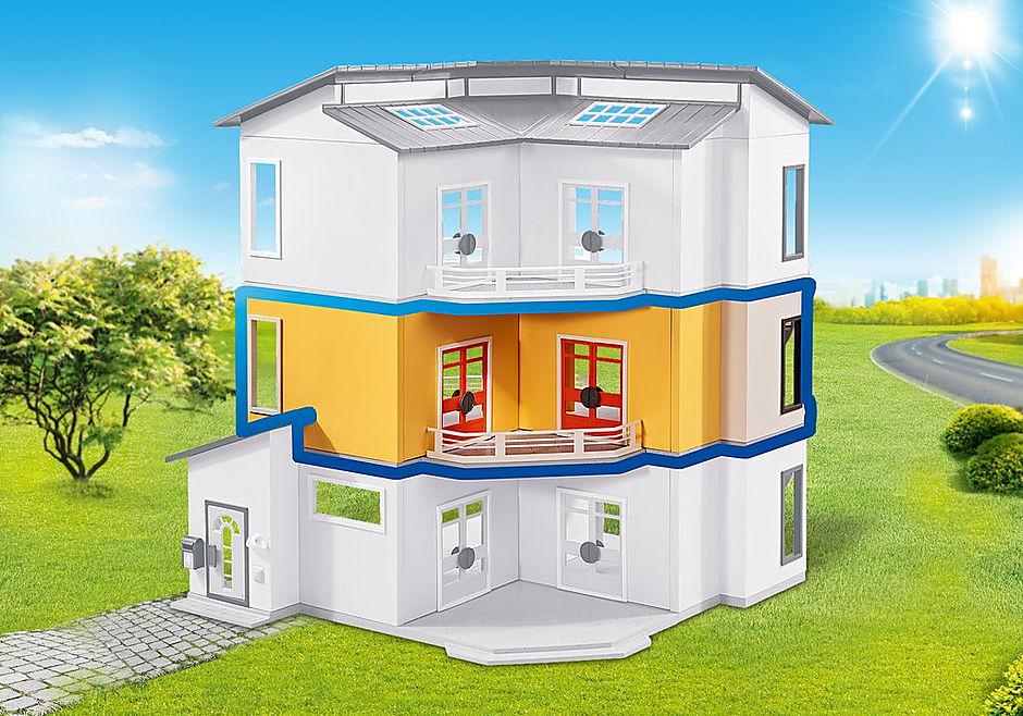 http://media.playmobil.com/i/playmobil/6554_product_detail/Etageutbyggnad för modernt bostadshus