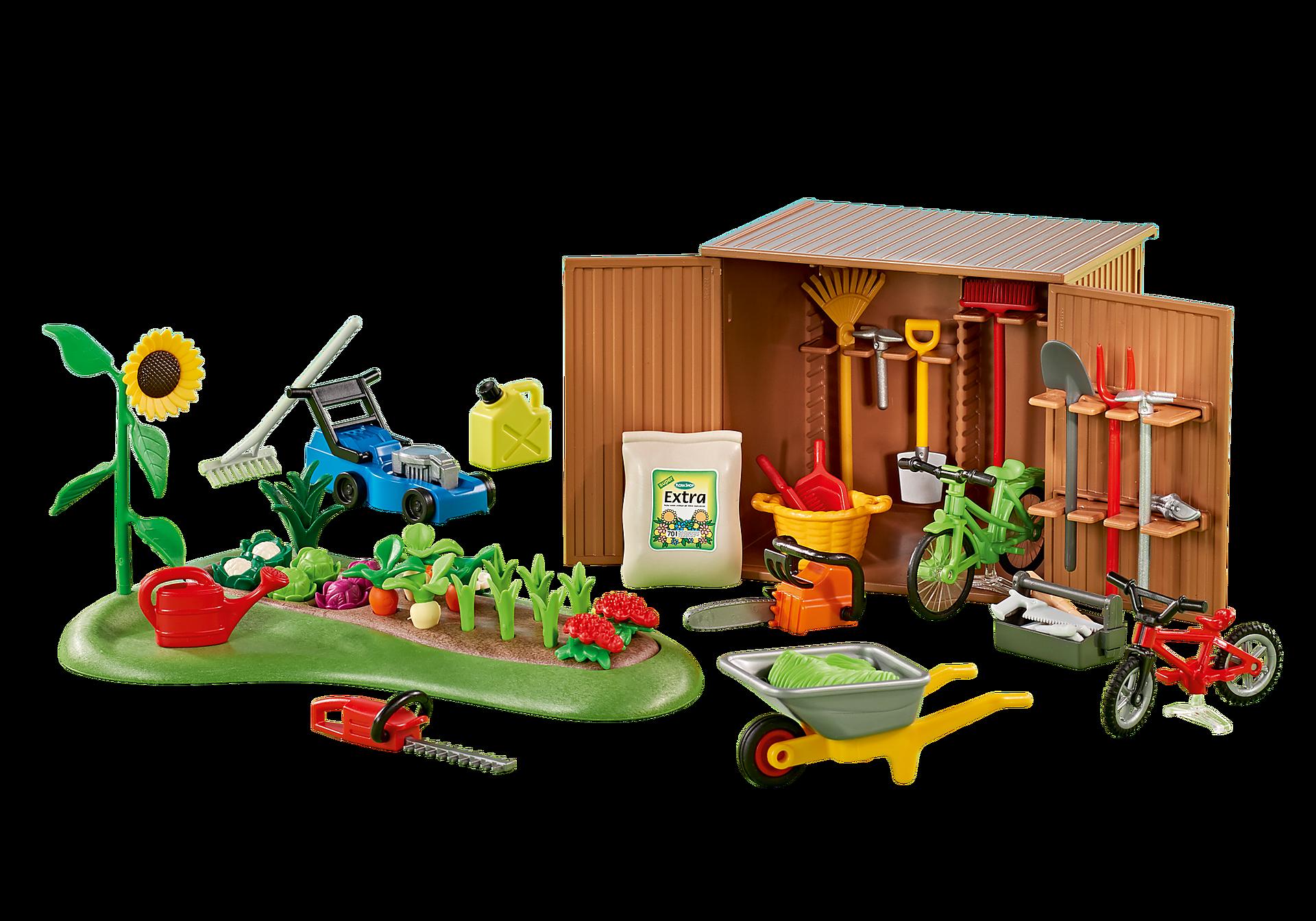 http://media.playmobil.com/i/playmobil/6558_product_detail/Αποθήκη εργαλείων και μποστάνι λαχανικών