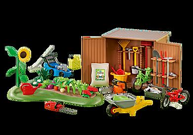 6558 Cabane à outils avec petit potager