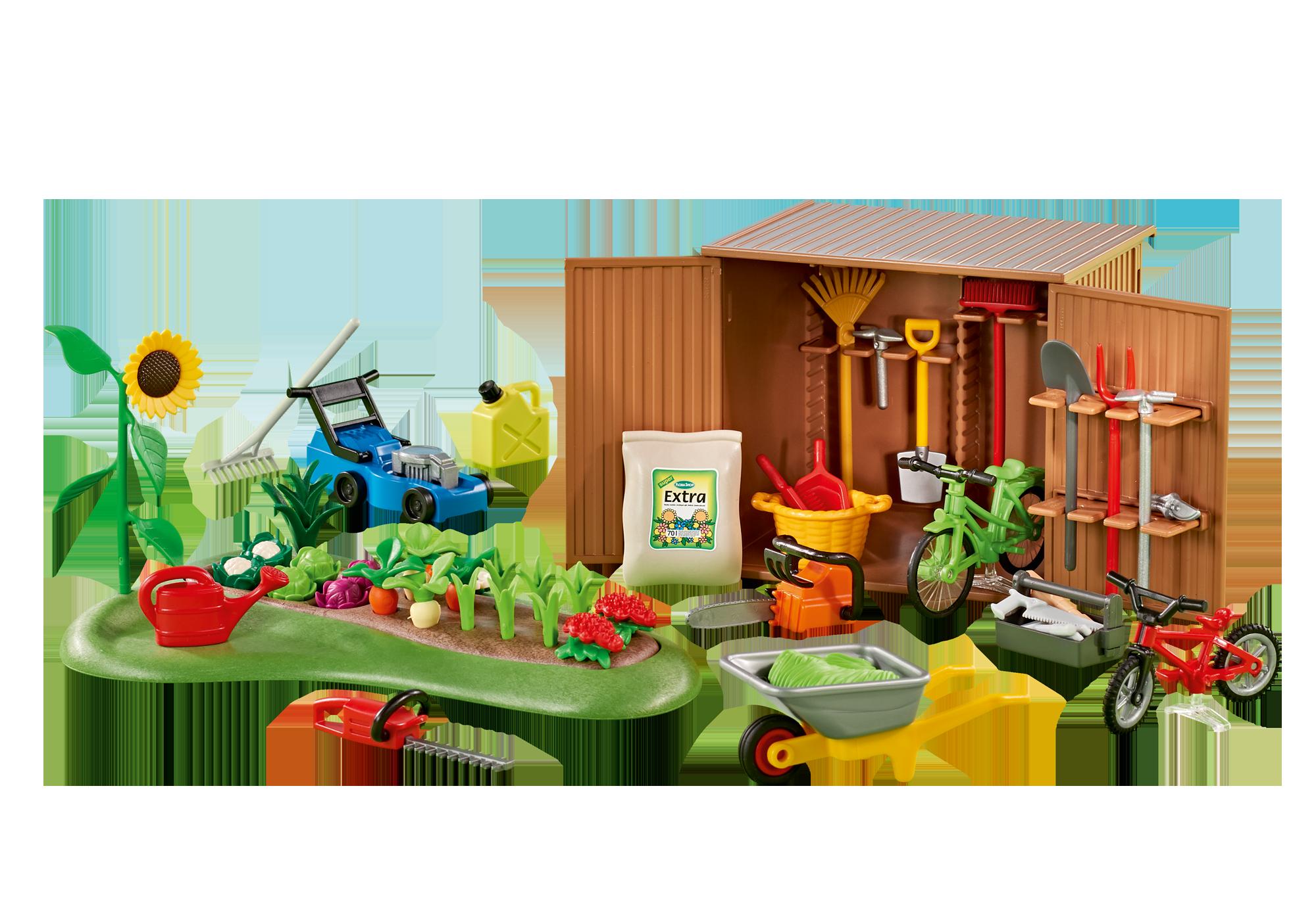 http://media.playmobil.com/i/playmobil/6558_product_detail/Cabane à outils avec petit potager