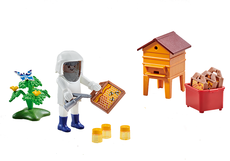 6573 Beekeeper with Hive detail image 1
