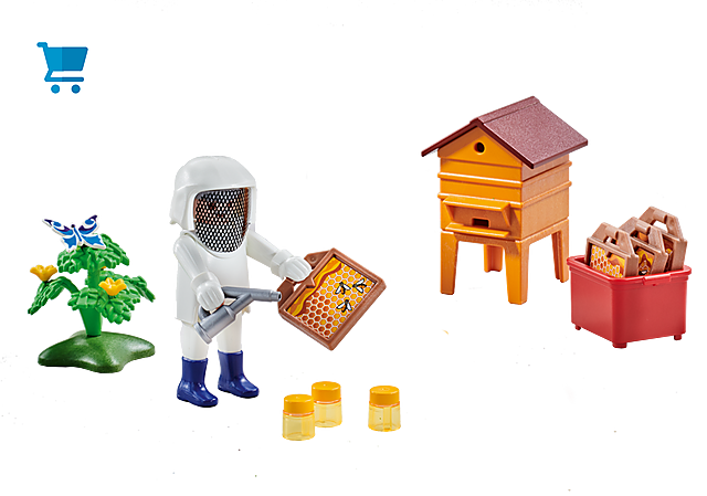 6573_product_detail/Beekeeper with Hive