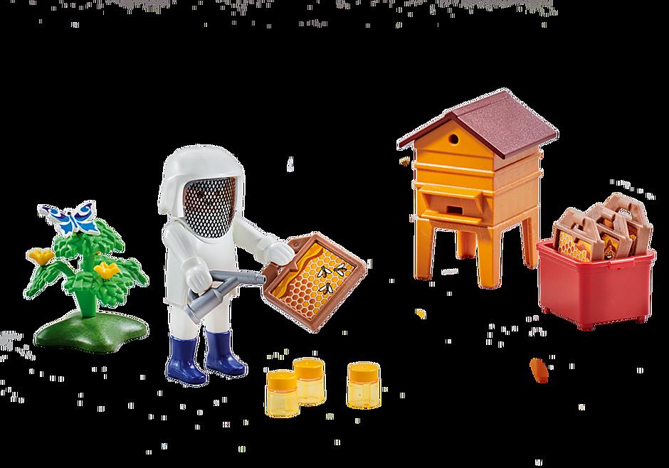 6573 Imker mit Bienenstock detail image 1