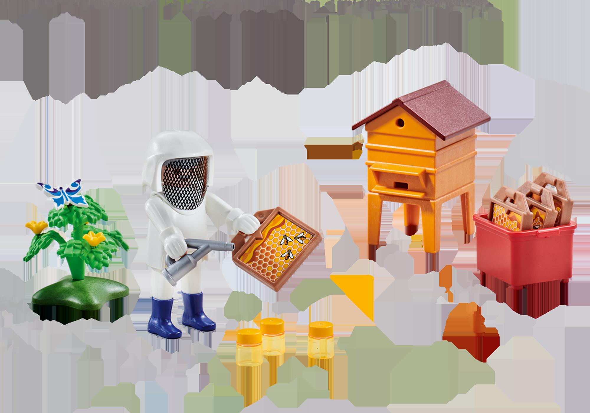 6573_product_detail/Imker mit Bienenstock